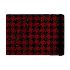 Houndstooth1 Black Marble & Red Grunge Apple Ipad Mini Flip Case by trendistuff