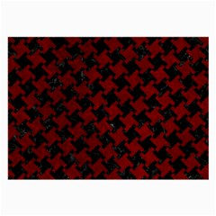 Houndstooth2 Black Marble & Red Grunge Large Glasses Cloth by trendistuff