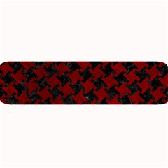 Houndstooth2 Black Marble & Red Grunge Large Bar Mats by trendistuff