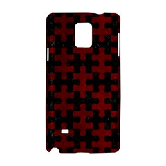 Puzzle1 Black Marble & Red Grunge Samsung Galaxy Note 4 Hardshell Case by trendistuff