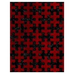 Puzzle1 Black Marble & Red Grunge Drawstring Bag (large) by trendistuff
