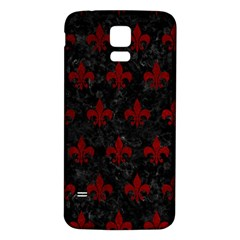 Royal1 Black Marble & Red Grunge Samsung Galaxy S5 Back Case (white) by trendistuff