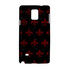 Royal1 Black Marble & Red Grunge Samsung Galaxy Note 4 Hardshell Case by trendistuff