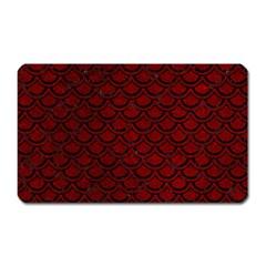 Scales2 Black Marble & Red Grunge Magnet (rectangular) by trendistuff