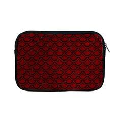 Scales2 Black Marble & Red Grunge Apple Ipad Mini Zipper Cases by trendistuff