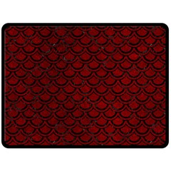 Scales2 Black Marble & Red Grunge Double Sided Fleece Blanket (large)  by trendistuff