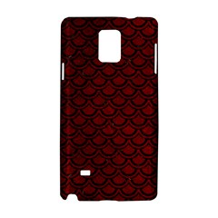 Scales2 Black Marble & Red Grunge Samsung Galaxy Note 4 Hardshell Case by trendistuff