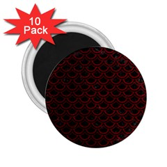 Scales2 Black Marble & Red Grunge (r) 2 25  Magnets (10 Pack)  by trendistuff