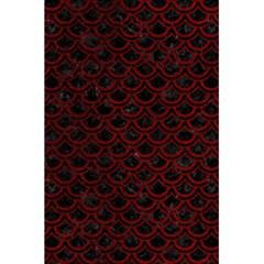 Scales2 Black Marble & Red Grunge (r) 5 5  X 8 5  Notebooks by trendistuff