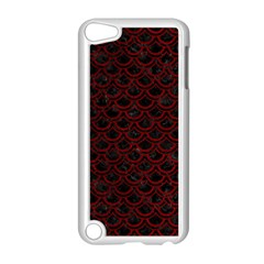 Scales2 Black Marble & Red Grunge (r) Apple Ipod Touch 5 Case (white) by trendistuff