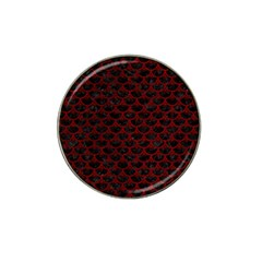 Scales3 Black Marble & Red Grunge (r) Hat Clip Ball Marker (10 Pack) by trendistuff