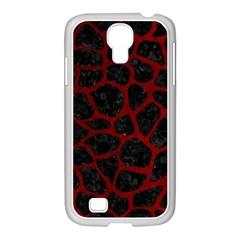 Skin1 Black Marble & Red Grunge Samsung Galaxy S4 I9500/ I9505 Case (white) by trendistuff