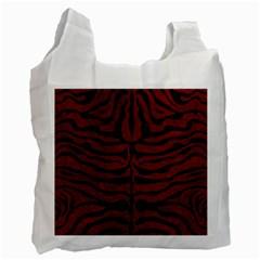 Skin2 Black Marble & Red Grunge Recycle Bag (two Side)  by trendistuff
