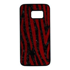 Skin4 Black Marble & Red Grunge Samsung Galaxy S7 Black Seamless Case by trendistuff