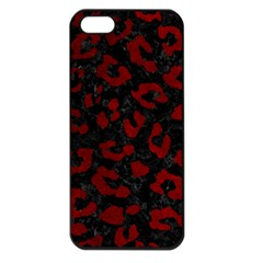 Skin5 Black Marble & Red Grunge Apple Iphone 5 Seamless Case (black) by trendistuff