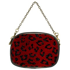 Skin5 Black Marble & Red Grunge (r) Chain Purses (two Sides)  by trendistuff