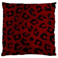 Skin5 Black Marble & Red Grunge (r) Large Flano Cushion Case (two Sides) by trendistuff