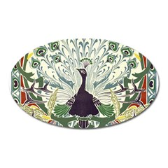 Art Nouveau Peacock Oval Magnet by 8fugoso