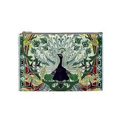 Art Nouveau Peacock Cosmetic Bag (medium)  by 8fugoso