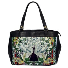 Art Nouveau Peacock Office Handbags by 8fugoso