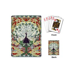 Art Nouveau Peacock Playing Cards (mini)  by 8fugoso