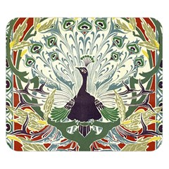 Art Nouveau Peacock Double Sided Flano Blanket (small)  by 8fugoso