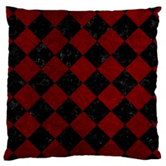 Square2 Black Marble & Red Grunge Large Cushion Case (two Sides) by trendistuff