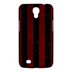 Stripes1 Black Marble & Red Grunge Samsung Galaxy Mega 6 3  I9200 Hardshell Case by trendistuff