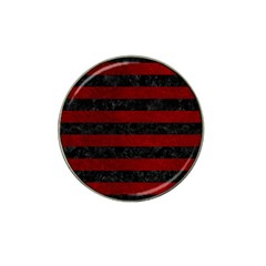 Stripes2 Black Marble & Red Grunge Hat Clip Ball Marker (4 Pack) by trendistuff