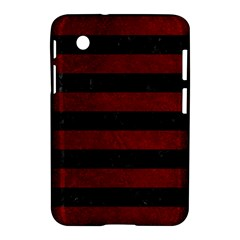 Stripes2 Black Marble & Red Grunge Samsung Galaxy Tab 2 (7 ) P3100 Hardshell Case  by trendistuff