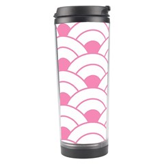 Art Deco Shell Pink White Travel Tumbler by 8fugoso