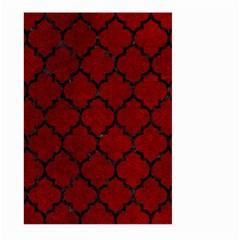 Tile1 Black Marble & Red Grunge Large Garden Flag (two Sides) by trendistuff