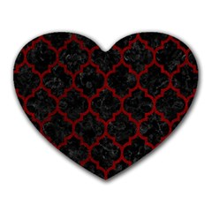 Tile1 Black Marble & Red Grunge (r) Heart Mousepads by trendistuff