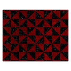 Triangle1 Black Marble & Red Grunge Rectangular Jigsaw Puzzl by trendistuff