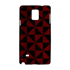 Triangle1 Black Marble & Red Grunge Samsung Galaxy Note 4 Hardshell Case by trendistuff