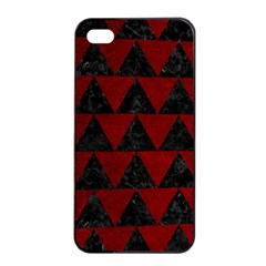 Triangle2 Black Marble & Red Grunge Apple Iphone 4/4s Seamless Case (black) by trendistuff