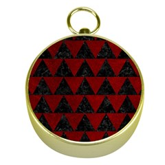 Triangle2 Black Marble & Red Grunge Gold Compasses by trendistuff