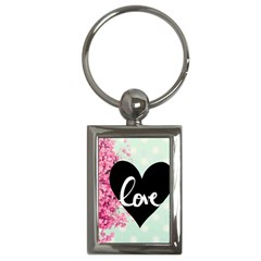 Modern Collage Shabby Chic Key Chains (rectangle)  by 8fugoso