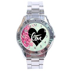 Modern Collage Shabby Chic Stainless Steel Analogue Watch by 8fugoso