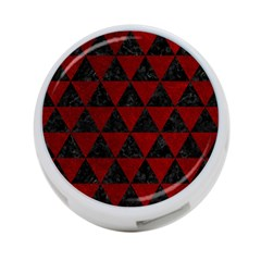 Triangle3 Black Marble & Red Grunge 4 Port Usb Hub (two Sides)  by trendistuff