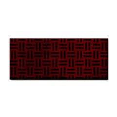 Woven1 Black Marble & Red Grunge Cosmetic Storage Cases by trendistuff