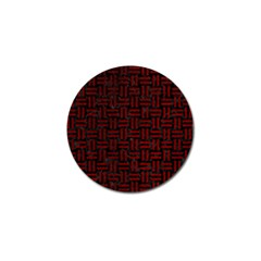 Woven1 Black Marble & Red Grunge (r) Golf Ball Marker by trendistuff