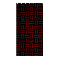 Woven1 Black Marble & Red Grunge (r) Shower Curtain 36  X 72  (stall)  by trendistuff