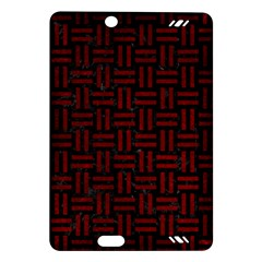Woven1 Black Marble & Red Grunge (r) Amazon Kindle Fire Hd (2013) Hardshell Case by trendistuff