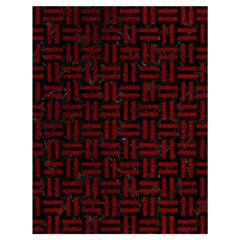 Woven1 Black Marble & Red Grunge (r) Drawstring Bag (large) by trendistuff