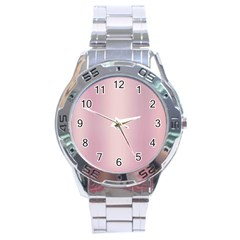 Beautiful,rose Gold,pattern Stainless Steel Analogue Watch by 8fugoso