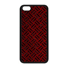 Woven2 Black Marble & Red Grunge Apple Iphone 5c Seamless Case (black) by trendistuff