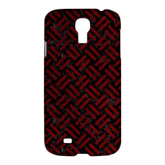 Woven2 Black Marble & Red Grunge (r) Samsung Galaxy S4 I9500/i9505 Hardshell Case by trendistuff