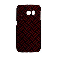 Woven2 Black Marble & Red Grunge (r) Galaxy S6 Edge by trendistuff