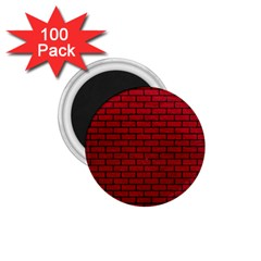Brick1 Black Marble & Red Leather 1 75  Magnets (100 Pack)  by trendistuff
